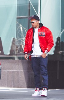 Chris Brown leaving Sofitel hotel in LA (Apr. 16th 2009)