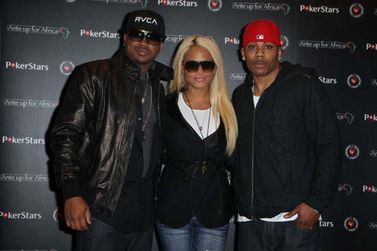 The Dream, Christina Milian and Nelly // Pokerstars' Ante Up for Africa European celebrity poker tournament