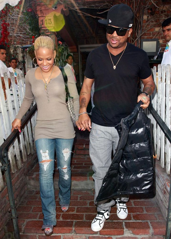 Christina Milian and The Dream leaving The Ivy in Beverly Hills (Apr. 6th 2009)
