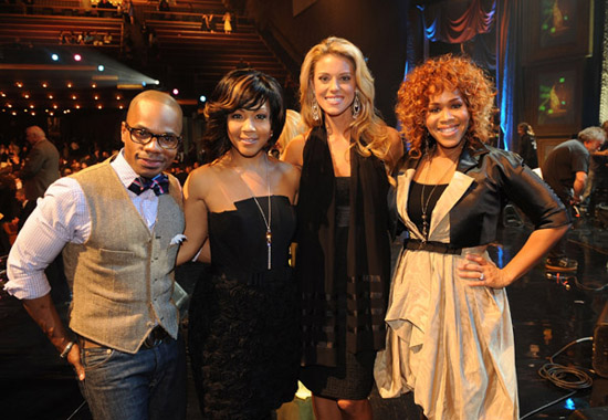 Kirk Franklin, Mary Mary & Carrie Prejean // 2009 GMA Dove Awards (backstage)
