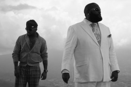 """The Dream & Rick Ross on the set of Rick Ross' """"All I Really Want"""" music video"""