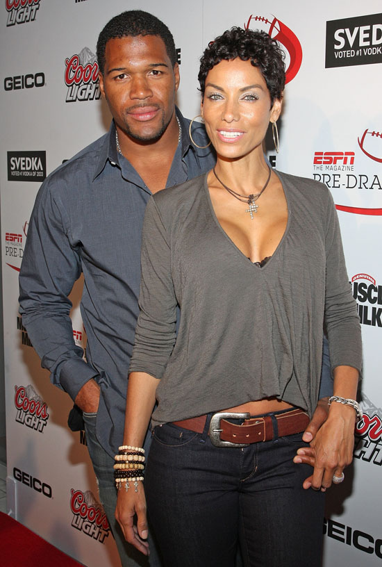Michael Strahan & Nicole Mitchell // ESPN Magazine 6th Annual pre-draft party