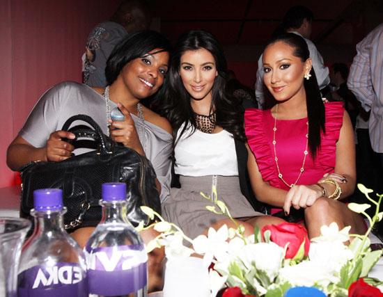 DJ Spinderella, Kim Kardashian & Adrienne Bailon // ESPN Magazine 6th Annual pre-draft party