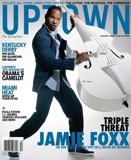Jamie Foxx // April/May 2009 Uptown Magazine (cover 1)