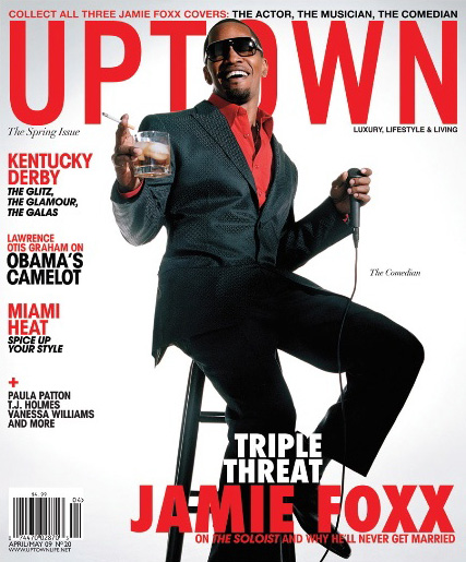 Jamie Foxx // April/May 2009 Uptown Magazine (cover 2)