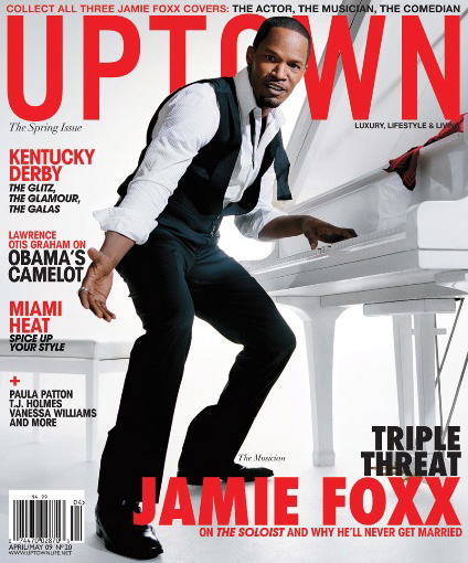 Jamie Foxx // April/May 2009 Uptown Magazine (cover 3)