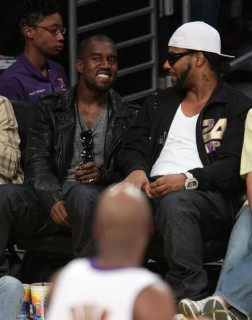 Kanye West & Polow Da Don // Lakers vs. Jazz basketball game (Apr. 19th 2009)