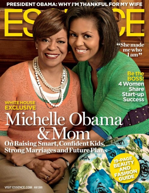 First Lady Michelle Obama & Mrs. Marion Robinson cover May 2009 Essence Magazine