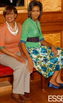 First Lady Michelle Obama and her mom Marion Robinson // May 2009 Essence Magazine