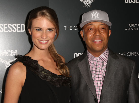 "Julie Henderson & Russell Simmons // ""Obsessed"" premiere in NYC"