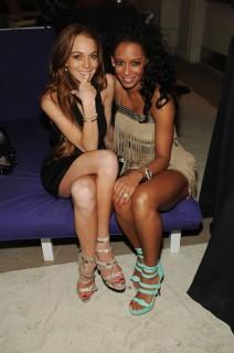 Mel B & Lindsay Lohan // Vegas Premiere of Peepshow