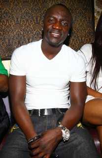 Akon at his 32nd birthday party in NYC