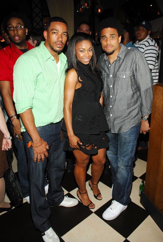 Laz Alonso, D. Woods & Michael Ealy at the after party for the ESPN Gala at Bar Artisanal