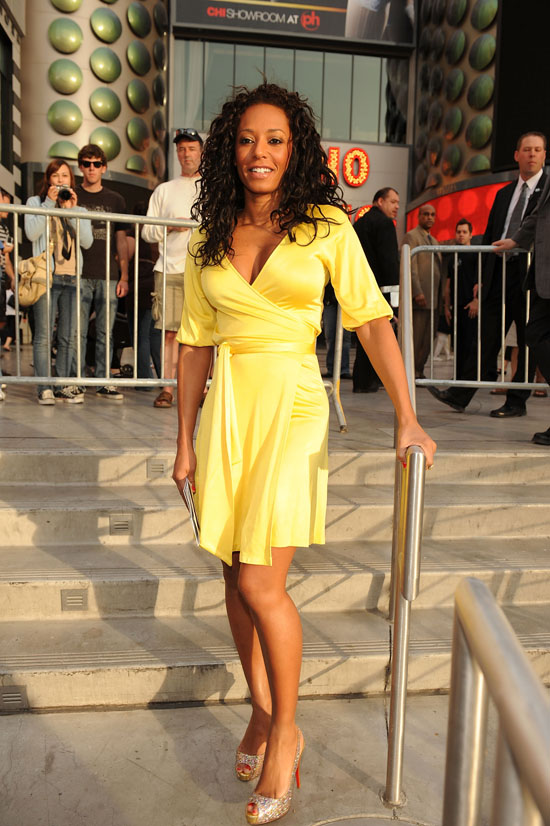 Melanie Brown at an event for The Rescue at Planet Hollywood