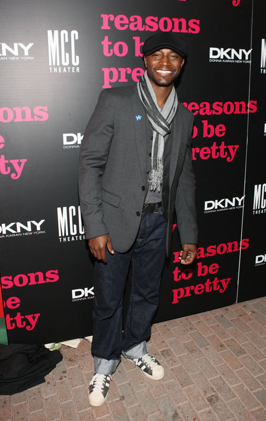 "Taye Diggs // Red Carpet of ""The Reasons to be Pretty"" Broadway opening night party"