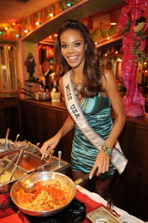 Crystal Stewart // Miss USA 2009 dinner at Bucco  di Beppo in Las Vegas