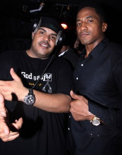 DJ Enuff & Q-Tip // Q-Tip's 39th birthday party in NY