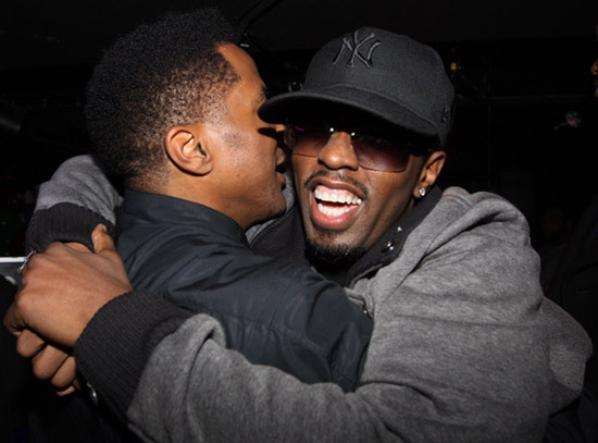 Q-Tip & Diddy // Q-Tip's 39th birthday party in NY