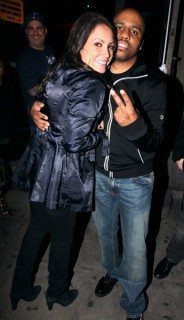 Angie Martinez & Consequence // Q-Tip's 39th birthday party in NY