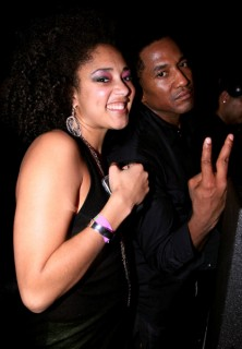 Amanda Diva & Q-Tip // Q-Tip's 39th birthday party in NY