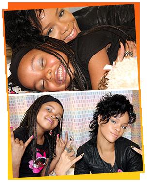 Rihanna and Jasmine Anema