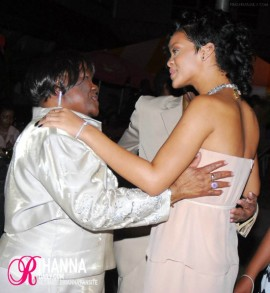 Rihanna and her grandparents Clara and Lionel Brathwaite