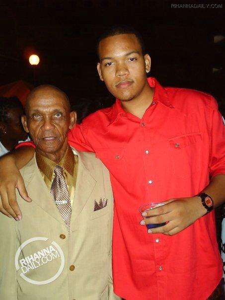 Rihanna's brother and her granddate Lionel Brathwaite