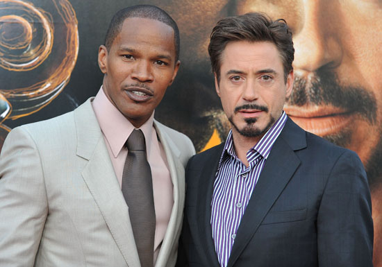 "Jamie Foxx & Robert Downey Jr. // ""The Soloist"" premiere in Los Angeles"