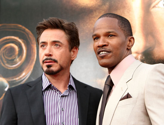 "Robert Downey Jr. & Jamie Foxx // ""The Soloist"" premiere in Los Angeles"