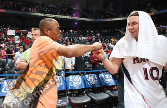 T.I. & Mike Bibby // Atlanta Hawks vs. Miami Heat basketball game (Apr. 19th 2009)