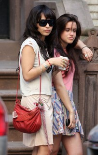 Zoe Kravitz on the set of Twelve in NYC (Apr. 27th 2009)
