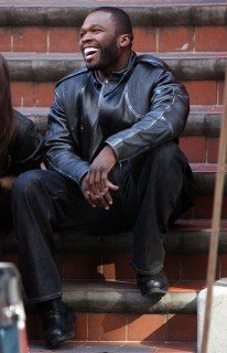 50 Cent aka Curtis Jackson on the set of Twelve in NYC (Apr. 27th 2009)
