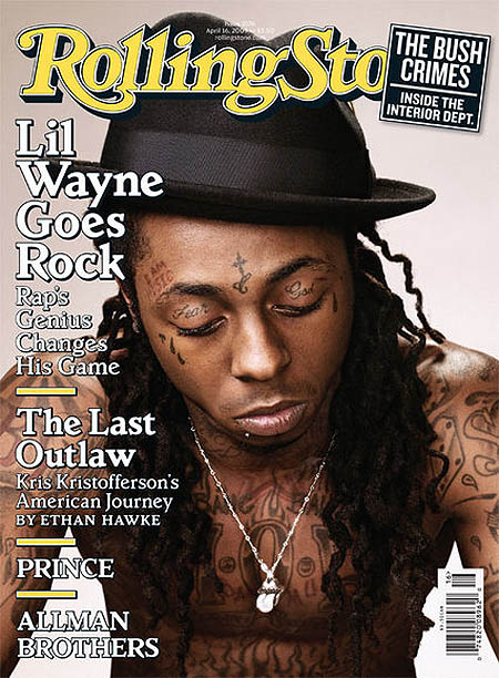 Lil Wayne Covers April 16, 2009 Rolling Stone Magazine