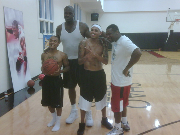 Bow Wow, Shaquille O'Neal, Chris Brown & Chris Tucker