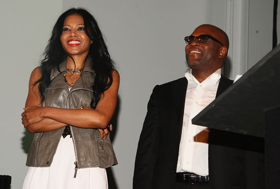 Amerie & Def Jam\'s Antonio L.A. Reid // Def Jam 2009 Spring Collection Party