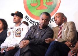 T.I., Rev. Al Sharpton & Kevin Liles // K.I.N.G. Foundation Anti-Gun Rally in New York