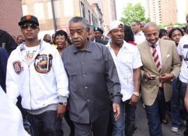 T.I., Rev. Al Sharpton, Ja Rule & Kevin Liles // K.I.N.G. Foundation Anti-Gun Rally in New York