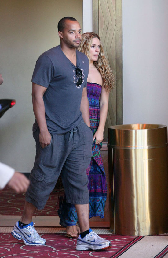 Donald Faison & Cacee Cobb at The Grove in LA (May 8th 2009)