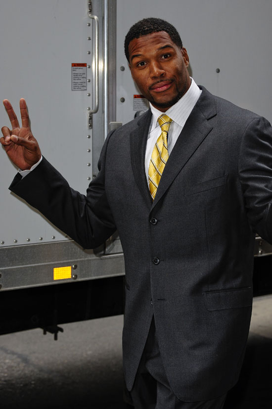 Michael Strahan in NYC (May 18th 2009)