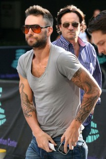 Adam Levine outside of the Staples Center at the Lakers/Nuggets game (May 27th 2009)