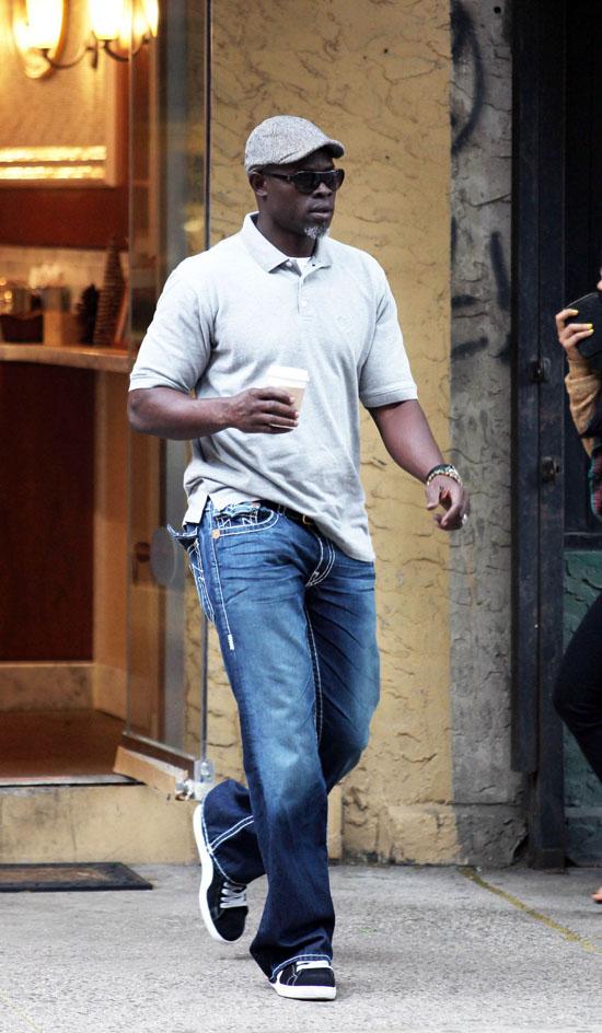 Djimon Honsou in SoHo (May 26th 2009)