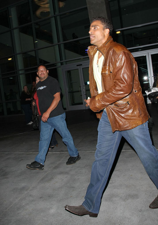 Rick Fox arriving at Staples Center in Los Angeles for the Lakers/Nuggets game (May 27th 2009)