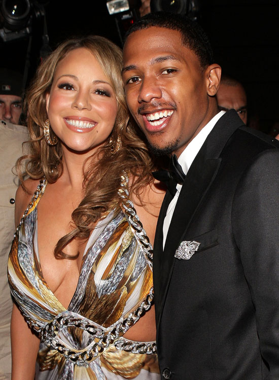 Coupled Up: Nick Cannon & Mariah Carey Attend Roberto Cavalli Dinner in