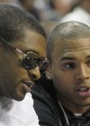 Chris Brown & Usher courtside at Magic/Cavs basketball game in Orlando (May 24th 2009)