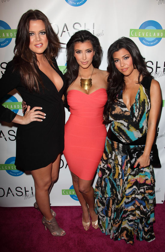 Khloe, Kim and Kourtney Kardashian // Dash Miami Store Opening Afterparty at Clevelander Hotel