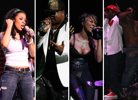 "Keyshia Cole, The Dream, Keri Hilson and Bobby Valentino Perform for the ""A Different Me Tour"" in Atlanta"