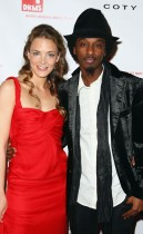 DKMS Vice President Katharina Harf & K\'Naan // DKMS 3rd Annual Star-Studded Gala