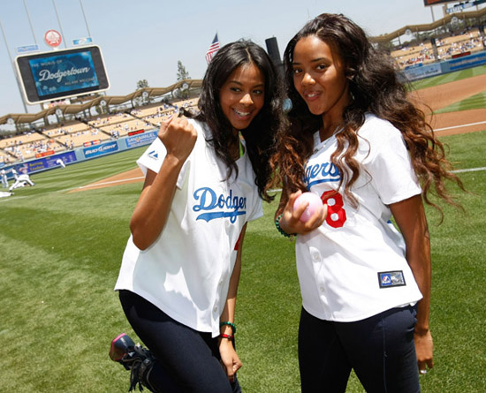 Vanessa & Angela Simmons // LA Dodgers Game