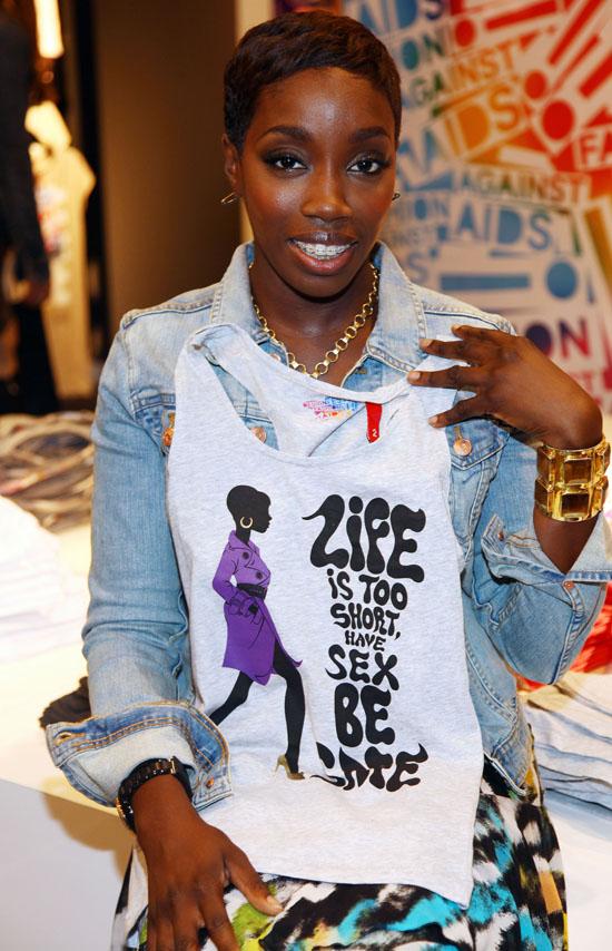 Estelle and H&M Unviel Fashion Against AIDS Collection at H&M Lexington