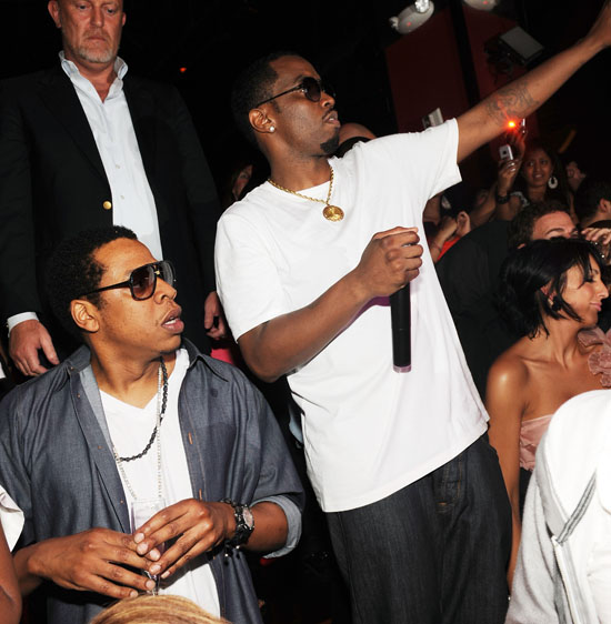 Jay-Z and Diddy // Manny Pacquiano vs. Ricky Hatton boxing match after party at TAO in Vegas